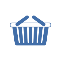 A shopping basket is often used when purchasing fast moving consumer goods