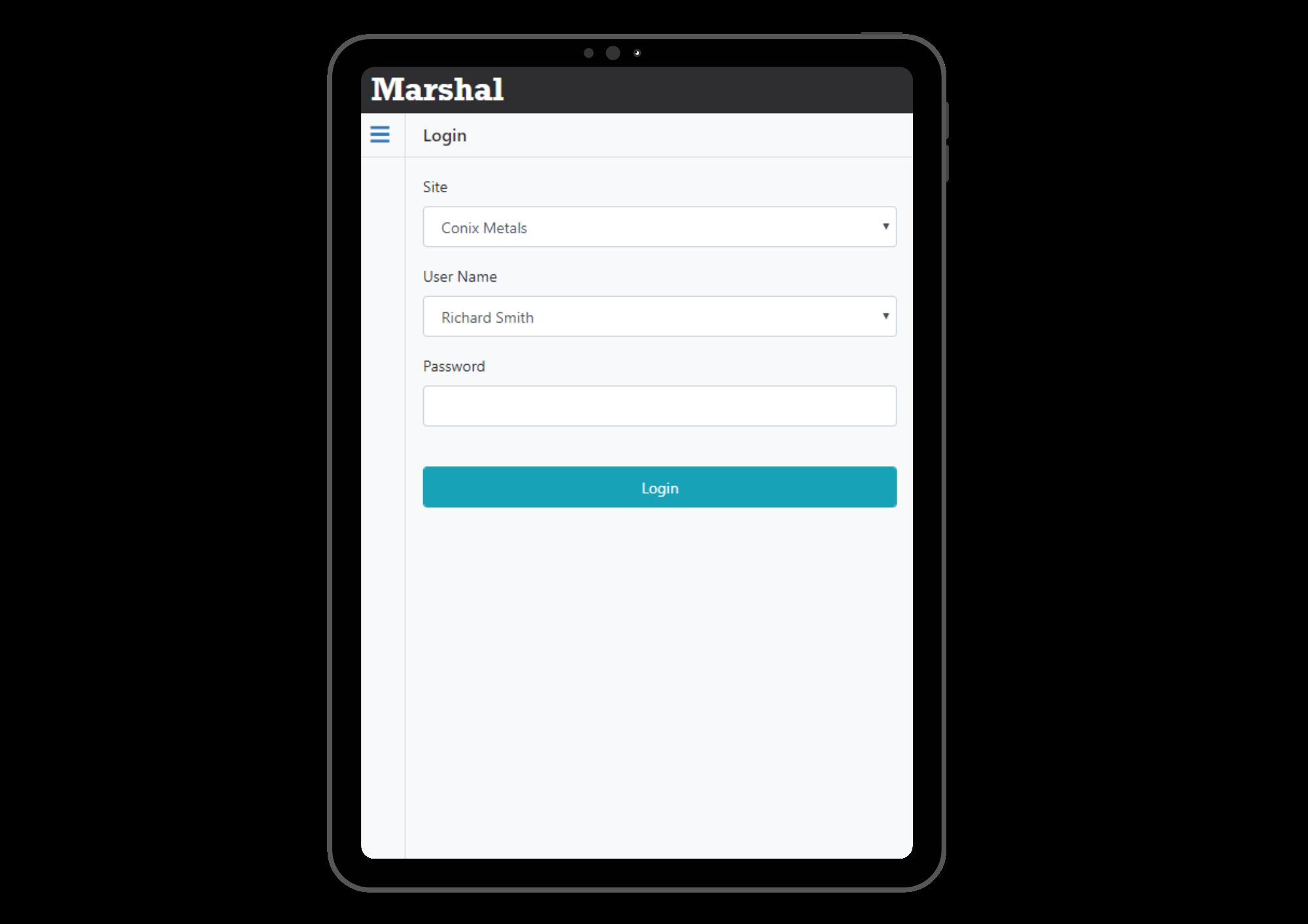 Marhsal Login page